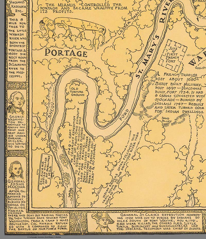 Allen County Public Library Genealogy Center 1812 Era Map Of Fort