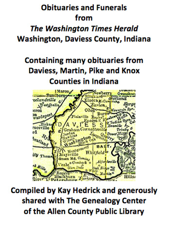 Allen County Public Library Genealogy Center - Obituaries