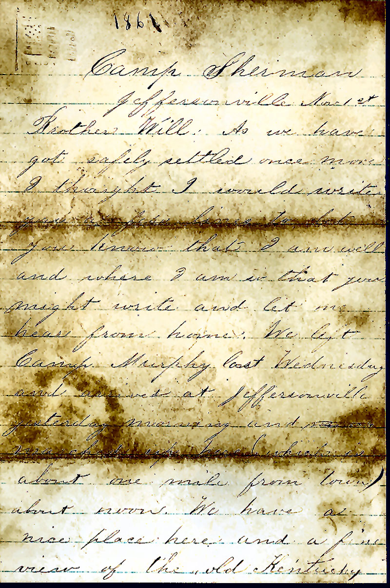 Best, robert e., 36th indiana volunteer infantry, letters