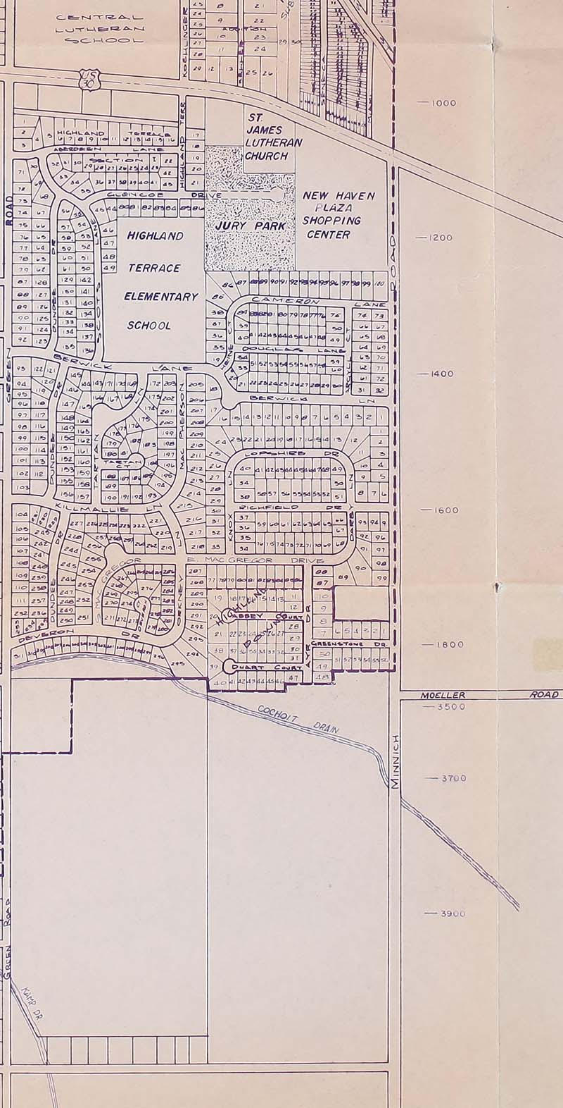 Allen County Public Library Genealogy Center Street Map Of New
